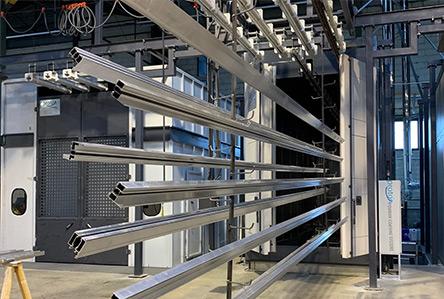 Cabine de traitement chimique automatisée pour Alu et Acier